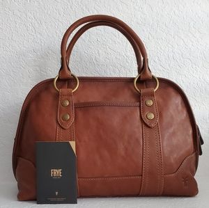 Frye Lucy Leather Domed Satchel in Cognac Bag